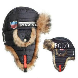 RALPH LAUREN WINTER STADIUM P-WING EARFLAP HAT